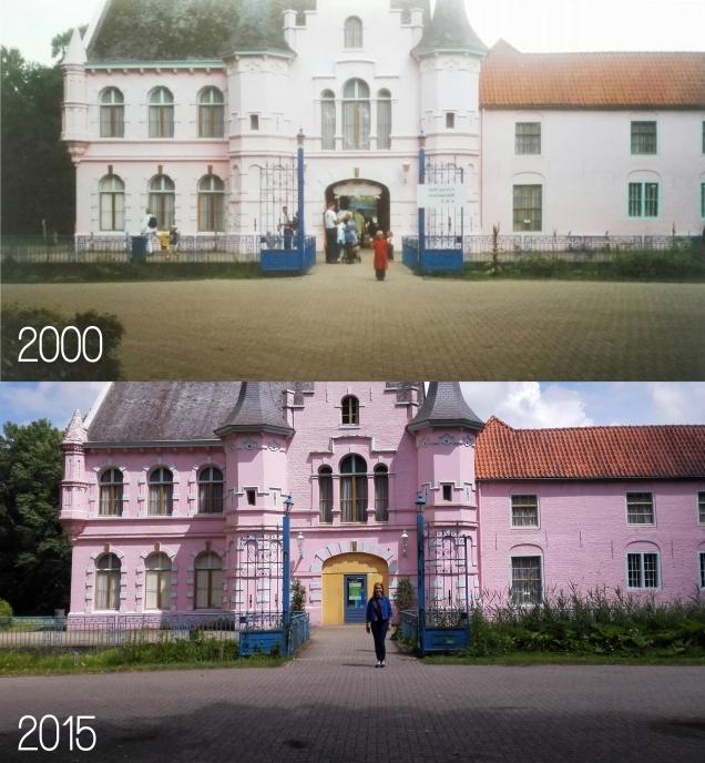 roze kasteel 2000 en 2015